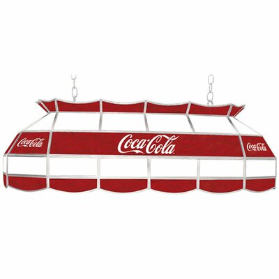 Coca Cola Script V1 Vintage 3-Light Pool Table Light