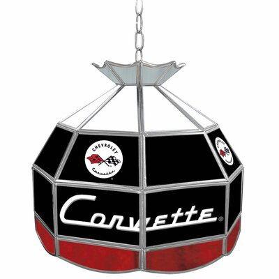 Corvette C1 Stained Glass Round Tiffany Lamp