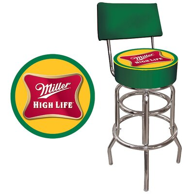 Rent to own Miller High Life Padded Bar Stool w...