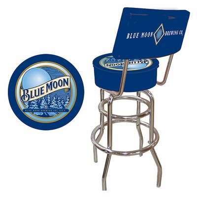 Credit for Blue Moon Padded Bar Stool with Bac...
