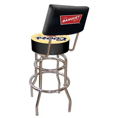 Credit for Coors Banquet Padded Bar Stool with...