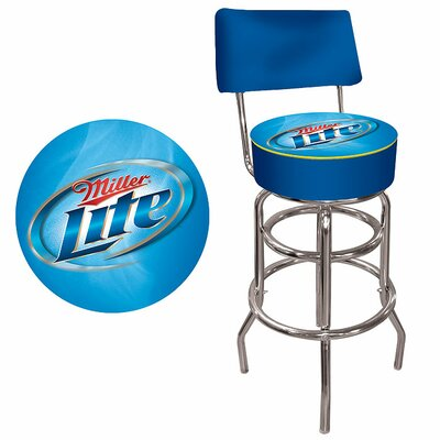 Easy financing Miller Lite Padded Bar Stool with B...