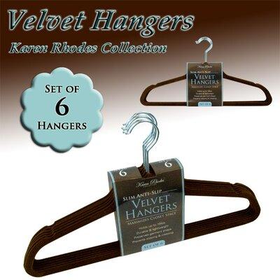 Velvet Hanger In Chocolate (set Of 24)