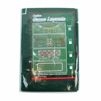 "Casino Style Blackjack Layout 36"" x 72"" 10-3010"