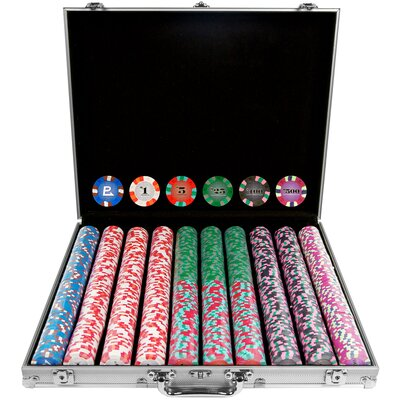 Trademark Commerce 10-6000-1KS 1000 Chip NexGen Pro Classic Style Poker Set -Aluminum Case