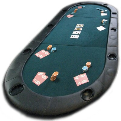 Trademark Commerce 10-7936C Texas Holdem Poker Folding Tabletop With Cupholders