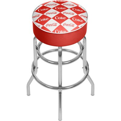 Coca Cola 31 Swivel Bar Stool Upholstery: Red/White