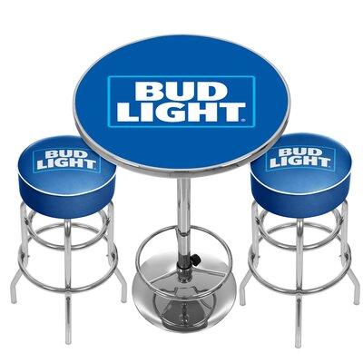 Ultimate Bud Light Game Room 3 Piece Pub Table Set