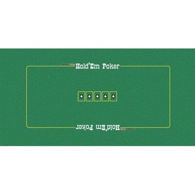 "72"" x 36"" Texas Hold'em Felt Layout 10-3040"