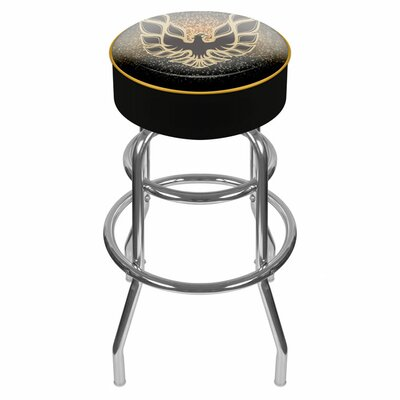 Pontiac 31 inch Swivel Bar Stool Upholstery: Black