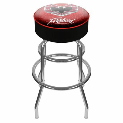 Pontiac 31 inch Swivel Bar Stool Upholstery: Red