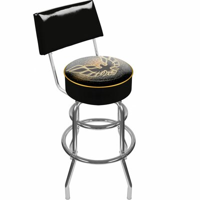 Pontiac 31 Swivel Bar Stool Upholstery: Black