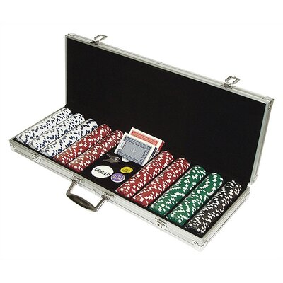 Trademark Commerce 10-1090-500SQL 500 Dice Style 11.5G Poker Chip Set - Retail Ready!