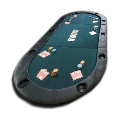 Texas Hold'em Poker Folding Tabletop With Cupholders 10-7936C