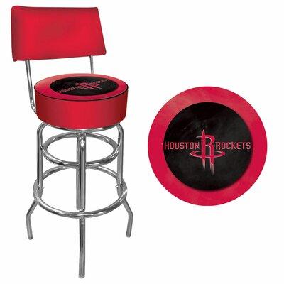 31 inch Swivel Bar Stool NBA Team: Houston Rockets