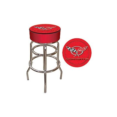 31 inch Swivel Bar Stool Upholstery: Red