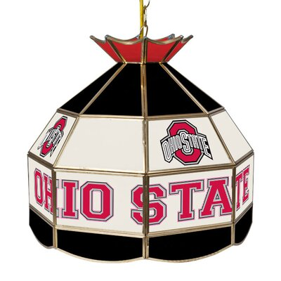 Glass 1-Light Tiffany Vanity Light NCAA Team: Ohio State