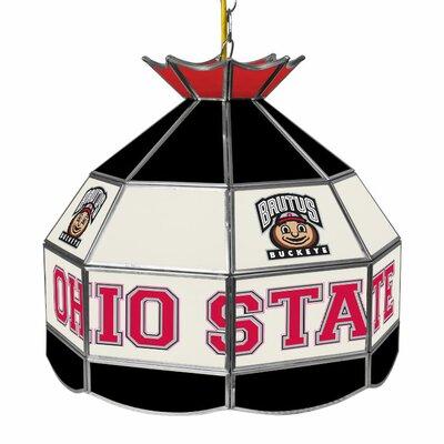 Glass 1-Light Tiffany Vanity Light NCAA Team: Ohio State University - Brutus Buckeye