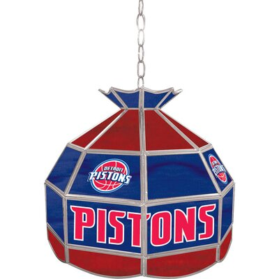 1-Light Tiffany Vanity Light NBA Team: Detroit Pistons