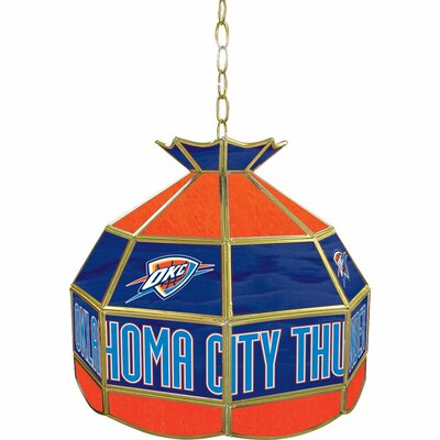 1-Light Tiffany Vanity Light NBA Team: Oklahoma City Thunder