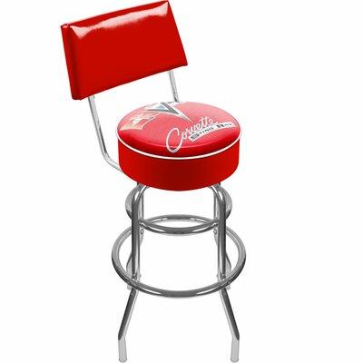 31 Swivel Bar Stool Upholstery: Red