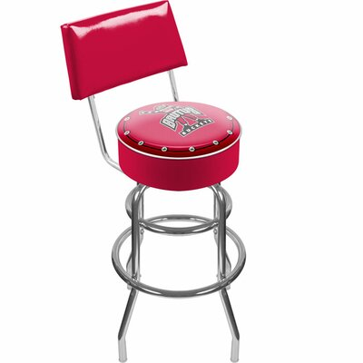 "NCAA 31"" Swivel Bar Stool NCAA Team: Ohio State University - Brutus Buckeye LRG1100-OSU-BRUT"