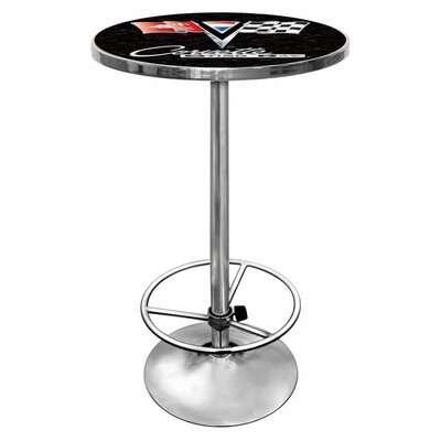 No credit check financing Corvette C2 Chrome Pub Table Color:...
