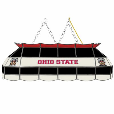 NCAA 3-Light Pool Table Light NCAA Team: Ohio State University - Brutus Buckeye