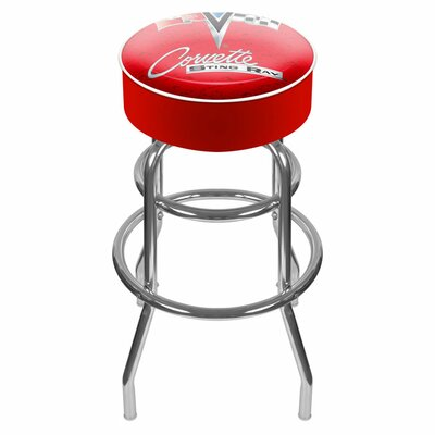 31 Swivel Bar Stool Upholstery: Red