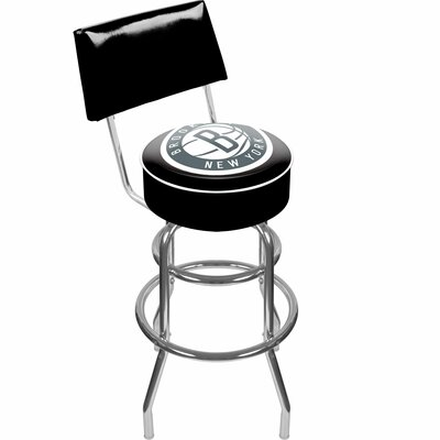 31 inch Swivel Bar Stool NBA Team: Brooklyn Nets
