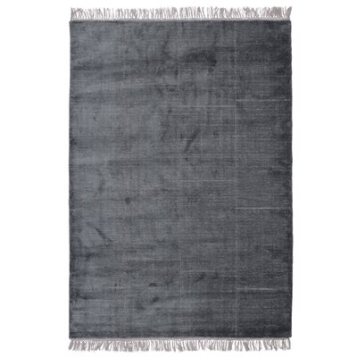 Bourquin Hand-Knotted Dark Blue Area Rug Rug Size: 83 x 116