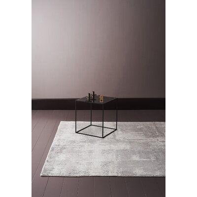 Bengta Hand-Knotted Light Gray Area Rug Rug Size: 57 x 79