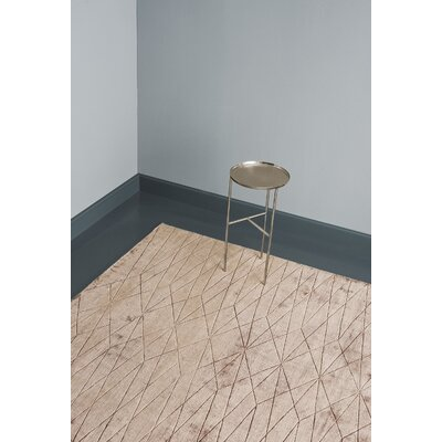Bengt Hand-Loomed Champagne Area Rug Rug Size: 57 x 79