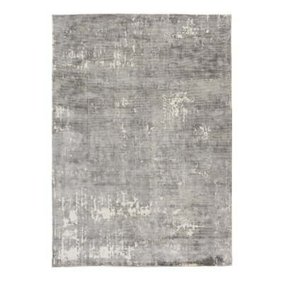 Bengta Hand-Knotted Gray Area Rug Rug Size: 5'7