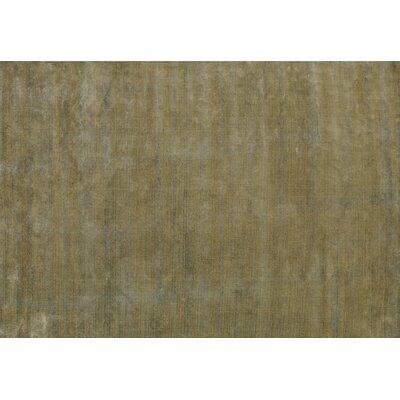Sana Hand-Knotted Lime Area Rug Rug Size: 57 x 79