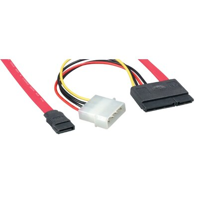 "Comprehensive 18"" Serial ATA Cable 180 degree with 15 Pin Power Adapter at Sears.com"