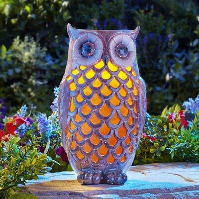 Owl Solar Light Statue 91581