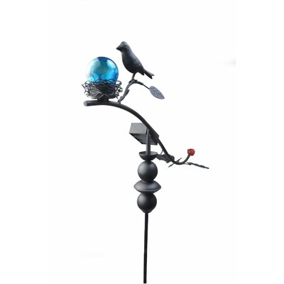Solar Powered Dancing Bird Light Garden Stake 92549