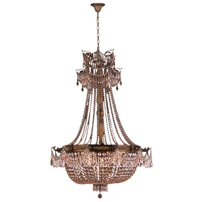 Reimer 12-Light Glass Empire Chandelier