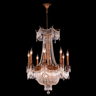 Reimer 12-Light Metal Crystal Chandelier
