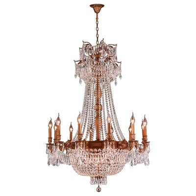 Winchester 18-Light Crystal Chandelier Finish: French Gold