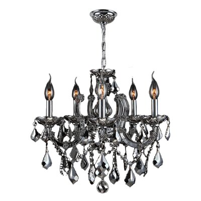 Roslyn Traditional 8-Light Crystal Chandelier Color: Chrome