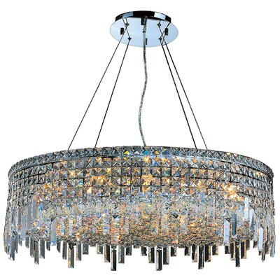 Anjali Polished Chrome 18-Light Crystal Chandelier