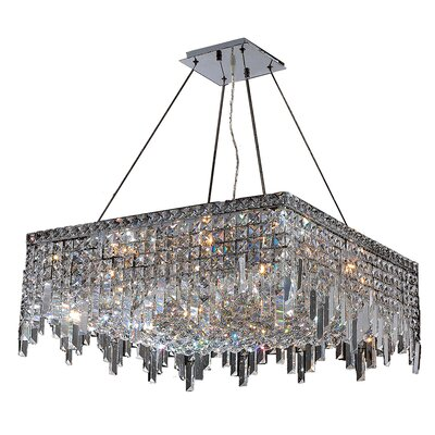 Anjali Solid Brass 12-Light Crystal Chandelier Size: 10.5 H x 24 W x 24 D