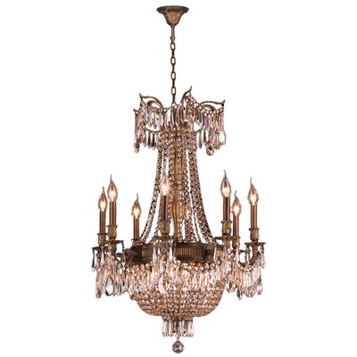 Reimer Traditional 12-Light Crystal Chandelier