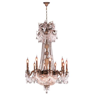Reimer Traditional 15-Light Crystal Chandelier