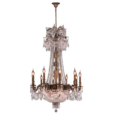 Reimer Traditional 18-Light Crystal Chandelier Finish: Antique Bronze