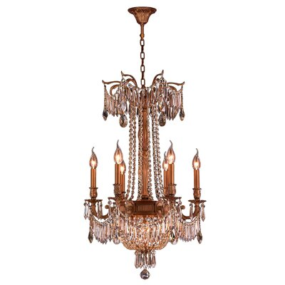 Reimer 9-Light Glass Crystal Chandelier
