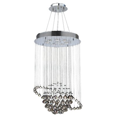 Saturn 8-Light Crystal Chandelier