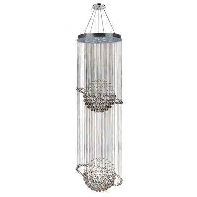 Leiker Contemporary 12-Light Crystal Chandelier